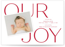 This is a red babys first christma by Sandra Picco Design called Our Greatest Joy with standard printing on signature in standard.