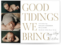 This is a white babys first christma by Robert and Stella called Good Tidings We Bring with standard printing on signature in standard.