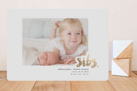 Sibs Foil-Pressed Birth Announcements