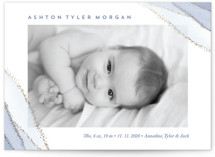This is a purple foil stamped birth announcement by Petra Kern called The Touch of Agate with foil-pressed printing on smooth signature in standard.