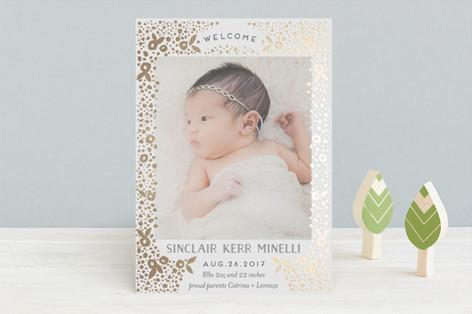 millefiori Foil-Pressed Birth Announcements