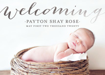 Welcoming Birth Foil-Pressed Birth Announcement Cards By michelle hatsushi