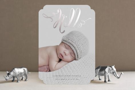 Hello Baby Foil-Pressed Birth Announcements