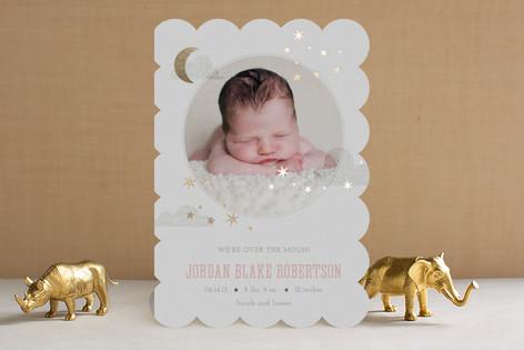 Little Dreamer Foil-Pressed Birth Announcements