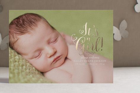 Darling Birth Foil-Pressed Birth Announcements