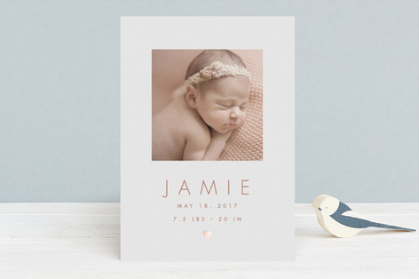 New Love Foil-Pressed Birth Announcements