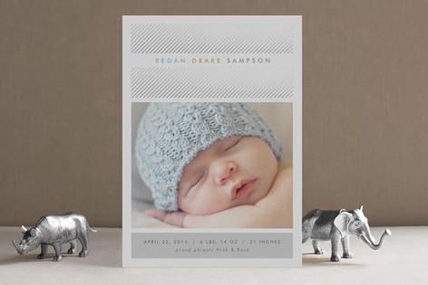 Business Attire Foil-Pressed Birth Announcements