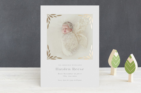 Sway Foil-Pressed Birth Announcements