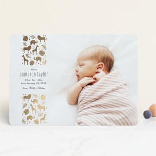 Safari Foil-Pressed Birth Announcements