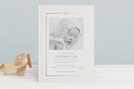 A Precious Present Foil-Pressed Birth Announcements