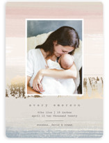 This is a gold foil stamped birth announcement by Katy Clemmans called Dawn Hues with foil-pressed printing on smooth signature in standard.