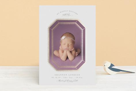 little jewel Foil-Pressed Birth Announcements