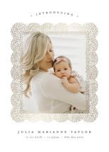 Glittery Foil-Pressed Birth Announcement Cards