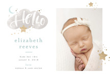 Twilight Foil-Pressed Birth Announcement Cards