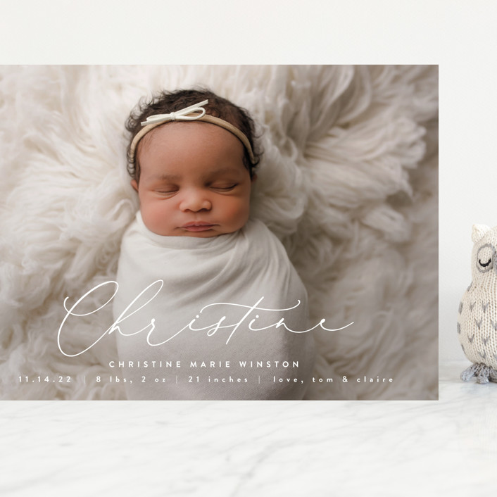 """""""Poetry"""" - Grand Birth Announcements in Whipped Cream by Ekko Studio."""
