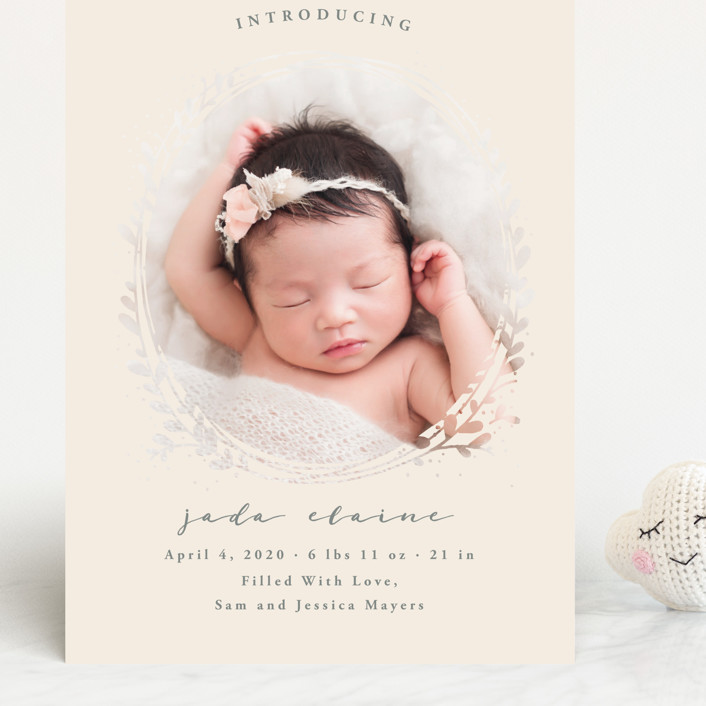 """""""Nest"""" - Grand Birth Announcements in Ivory by JeAnna Casper."""