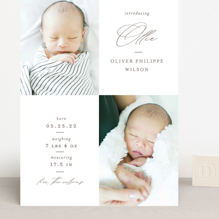 """Ollie"" - Grand Birth Announcements in Hickory by Mansi Verma."