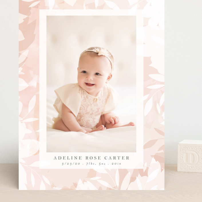 """blush branches"" - Grand Birth Announcements in Blush by Angela Thompson."