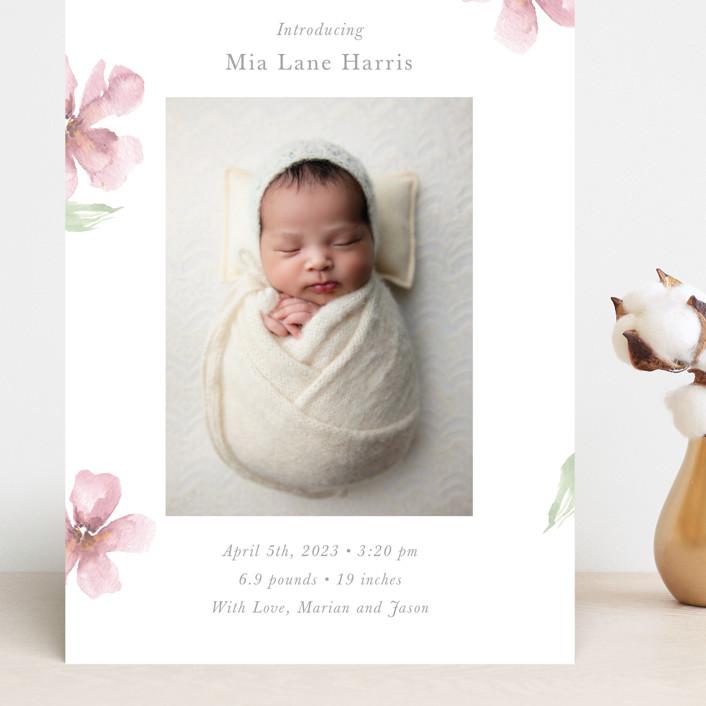 """Flower Petals"" - Grand Birth Announcements in Petals by Melinda Denison."