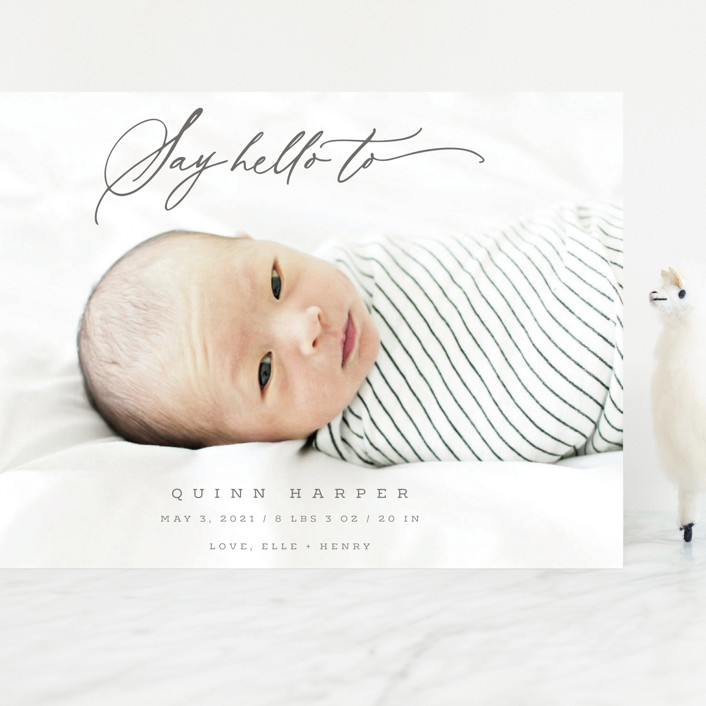 """""""Say Hello To"""" - Grand Birth Announcements in Shadow by fatfatin."""
