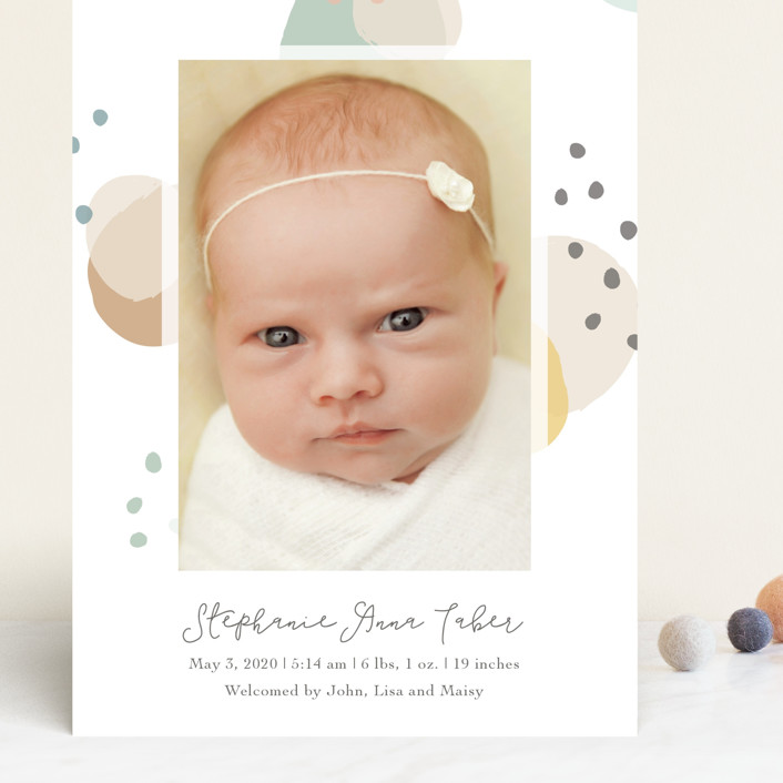 """""""Dreamy Bubbles"""" - Grand Birth Announcements in Eggnog by Betsy Siber."""