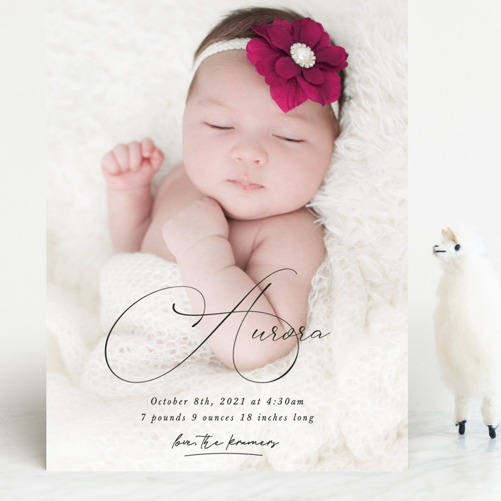 """""""Special love"""" - Grand Birth Announcements in Onyx by Kristel Torralba."""
