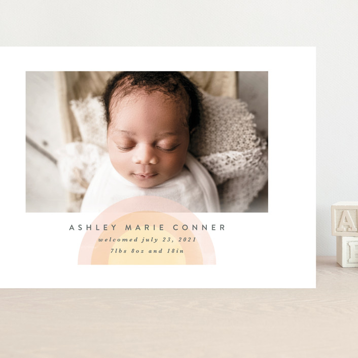 """""""our rainbow"""" - Grand Birth Announcements in Rose by Angela Garrick."""