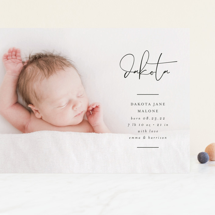 """""""Signed With Love"""" - Grand Birth Announcements in Tuxedo by Lehan Veenker."""