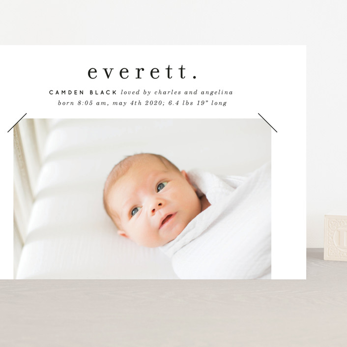 """""""All in a Name"""" - Grand Birth Announcements in Cloud by Baumbirdy."""
