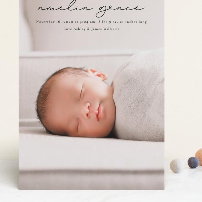 """pure grace"" - Grand Birth Announcements in Onyx by Kasia Labocki."