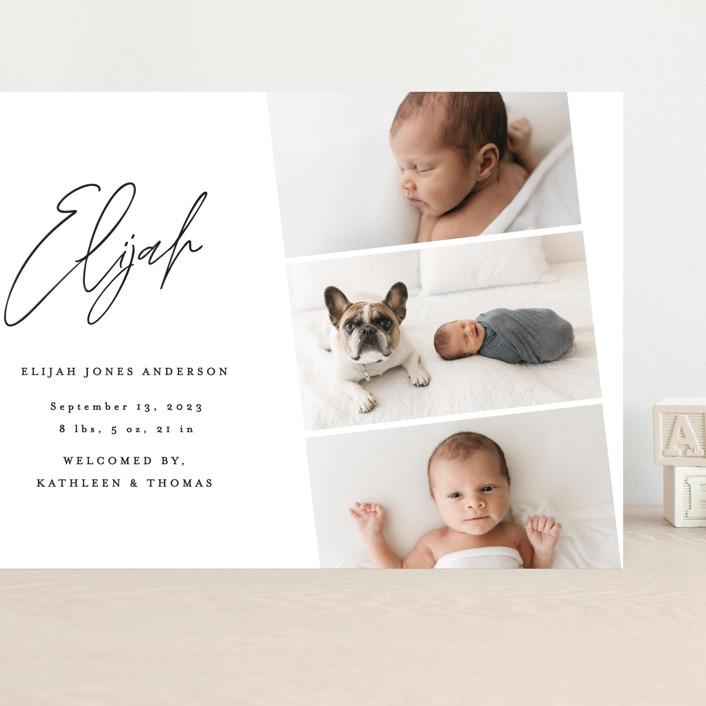 """""""Modern Photo Strip"""" - Grand Birth Announcements in Ink by Anna Elder."""