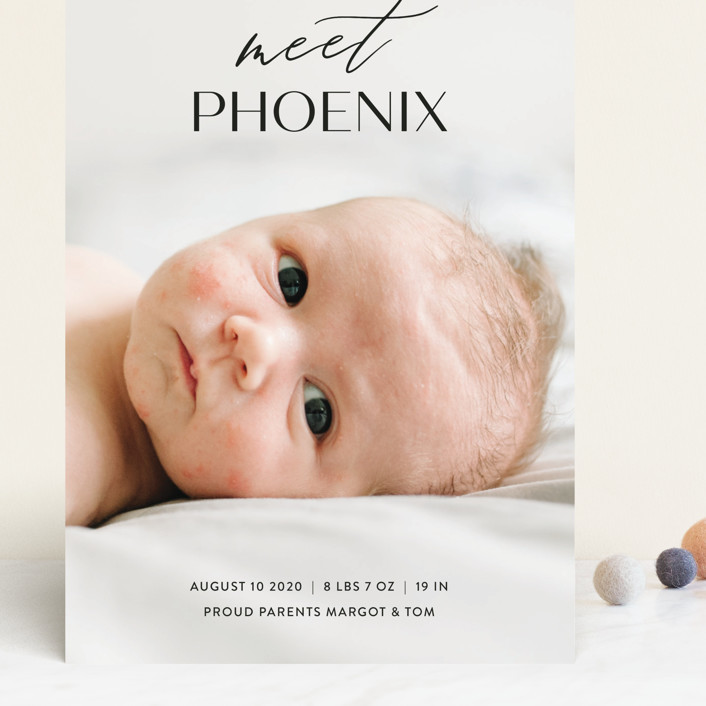 """""""Sweet Introduction"""" - Modern Grand Birth Announcements in Ink by Chryssi Tsoupanarias."""