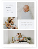 This is a blue grand birth announcement by Julie Murray called Love Multiplies with standard printing on smooth signature in grand.