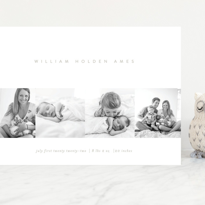 """""""Tiled"""" - Grand Birth Announcements in Greige by Erin L. Wilson."""