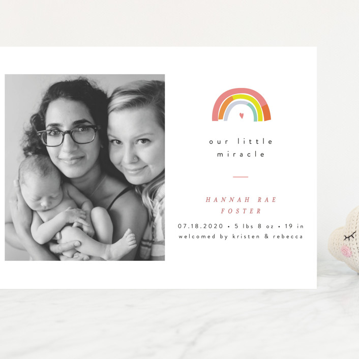 """Our Little Rainbow"" - Grand Birth Announcements in Bright by Pixel and Hank."
