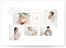 This is a pink grand birth announcement by Kristie Kern called Precious Gallery with standard printing on smooth signature in grand.