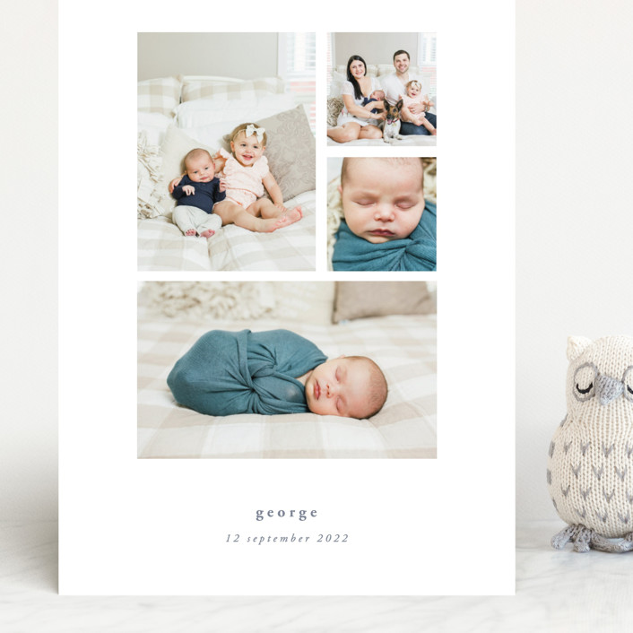 """""""Quietly"""" - Grand Birth Announcements in Sable by Rebecca Daublin."""