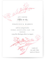 This is a pink foil pressed baby shower invitation by Kimberly FitzSimons called Highland with gloss-press printing on signature in standard.