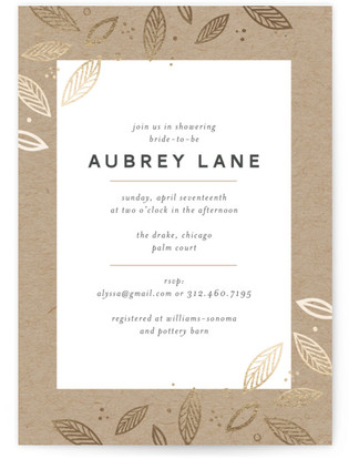 Blush Foil-Pressed Bridal Shower Invitations