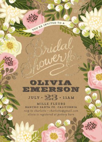 Floral canopy foil pressed bridal shower invitations by griffinbell floral canopy foil pressed bridal shower invitations by griffinbell paper co minted filmwisefo