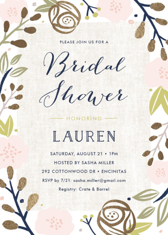 Spring shower foil pressed bridal shower invitations by carolyn spring shower foil pressed bridal shower invitations by carolyn maclaren minted filmwisefo