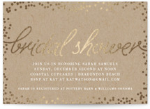 This is a brown bridal shower invitation by Saltwater Designs called Starlight with foil-pressed printing on signature in standard.