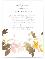 This is a gold bridal shower invitation by Baumbirdy called Gilded Rose Garden with foil-pressed printing on signature in standard.