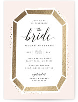 This is a pink bridal shower invitation by Michelle Taylor called Emerald Cut with foil-pressed printing on signature in standard.