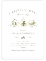 This is a gold bridal shower invitation by Jessica Maslyn called Bridal Terrariums with foil-pressed printing on signature in standard.
