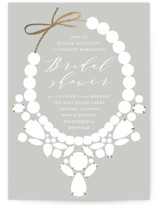 This is a grey bridal shower invitation by Baumbirdy called Statement with foil-pressed printing on signature in standard.