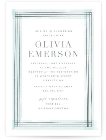 Engaging Foil-Pressed Bridal Shower Invitations