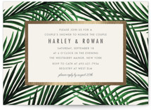 This is a beige bridal shower invitation by Elly called Tropical Love with foil-pressed printing on signature in standard.