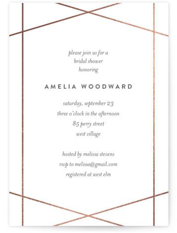 Simplicity Foil-Pressed Bridal Shower Invitations