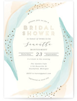 tranquil Foil-Pressed Bridal Shower Invitations